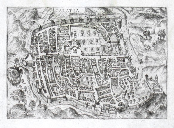Calatia - Antique map