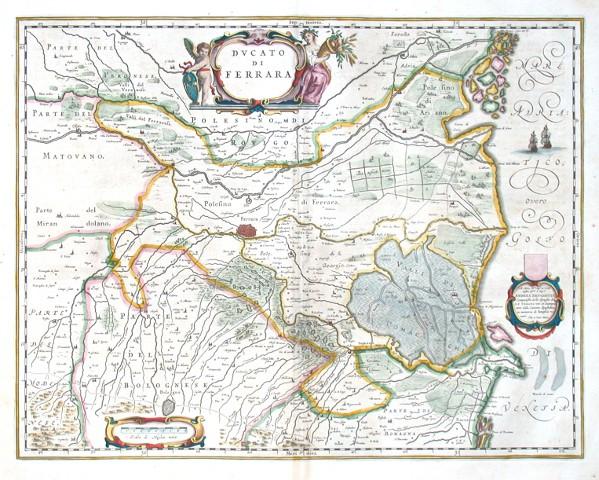 Dvcato di Ferrara - Alte Landkarte