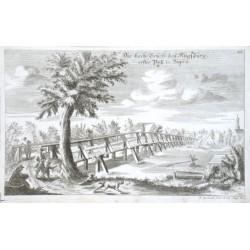 Die Lech-Brücke bey Augspurg, erster Paß in Bayern