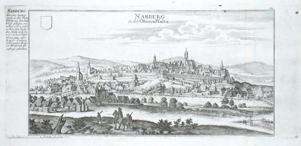 Nabburg in der Oberen Pfaltz - Stará mapa