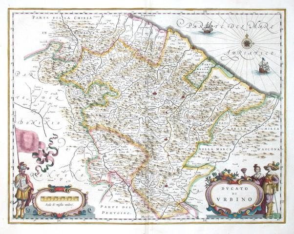 Dvcato di Vrbino - Stará mapa
