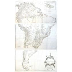 Karte von Süd - America