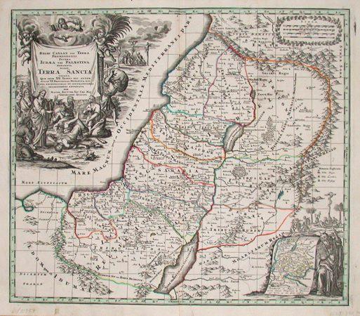 Regio Canaan seu Terra Promissionis, postea Iudaea vel Palaestina nominata, hodie Terra Sancta vocata.