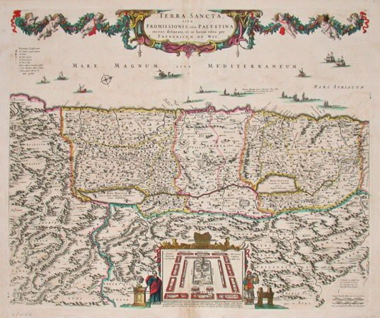 Terra Sancta sive Promissionis, olim Palestina - Stará mapa