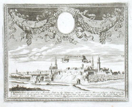 Friedberg - Alte Landkarte