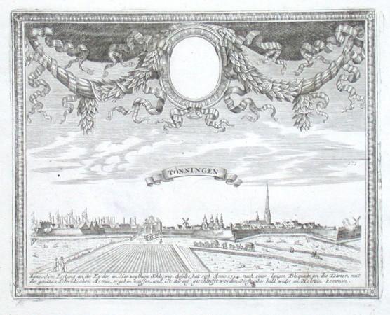 Tönningen - Alte Landkarte
