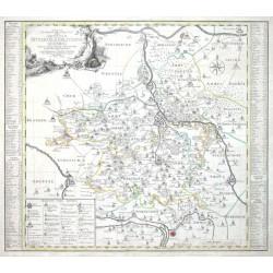 Accurate Geograph. Delineation derer Aemter Bitterfeld, Delitzsch u. Zoerbig