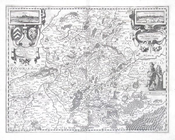 Nobilis. Hannoniae Com. Descriptio - Antique map