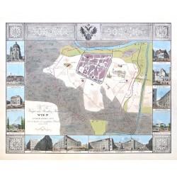 K.K. Haupt und Residenz-Stadt Wien in dem Jahre 1147 nebst 14 Ansichten der vorzüglichsten Gebäuden neuerer Zeit.