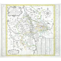 Accurate  Delineation derer zu dem Leipziger Creisse Gehörigen Aemmter Grimma und Mutzschen