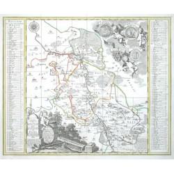 Accurate  Delineation des Stiffts Ambts Wurtzen, nebst dem Aembtern Eilenburg und Düben
