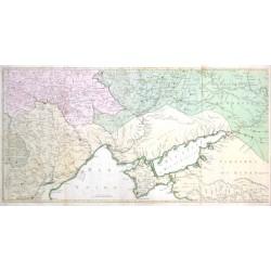 Carte Geographique representant  les Russes, les Turcs et les Polonois Confederes - C'est a dire: les Provinces d'Ukraine,