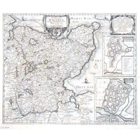Landtcarte von dem Lande Wageren. Welches ist das Ostertheil von Holstein. Anno 1651.