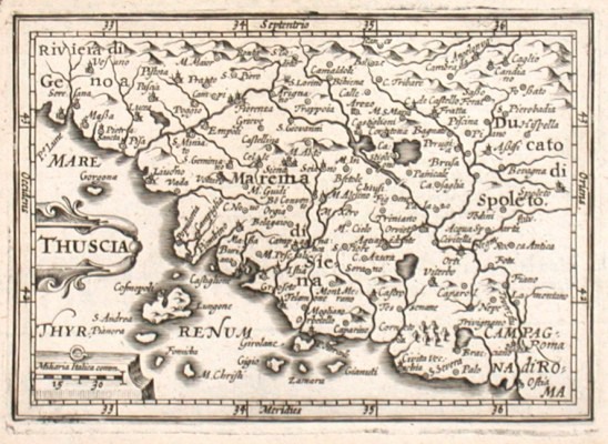 Thuscia - Alte Landkarte