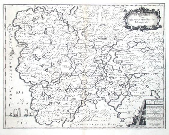 Nordertheil vom alt Nordt Frießlande biß an das Iahr 1240 - Alte Landkarte
