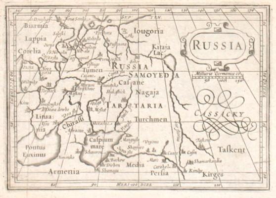 Russia - Alte Landkarte