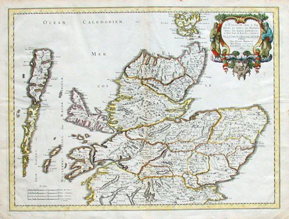 L'Escosse dela le Tay divisee en toutes ses Provinces