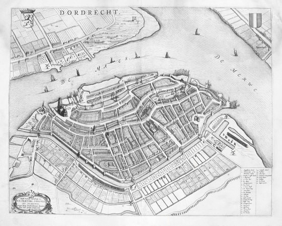 Dordrecht - Antique map