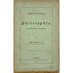 Begriff und Eintheilung der Philosophie