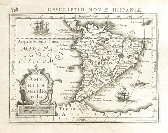 America Meridionalis - Alte Landkarte