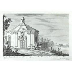Sacellum Bohem: Horto Comitis Tschernini adjacens. - Die Böhm: Capelle beij dem Garten in Wien