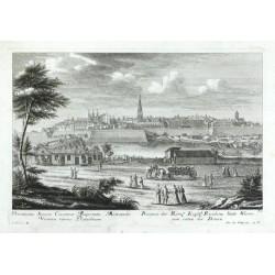 Prospect der  Residenz Statt Wienn, von seiten der Donau