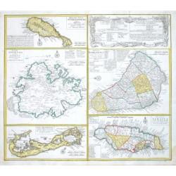 Dominia Anglorum in praecipuis Insulis Americae  - Die Englische Colonie-Laender Auf den Isuln von America
