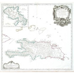 Isles de Saint Dominigue ou Hispaniola et de la Martinique