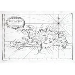 Karte von der Insel Saint Domingue