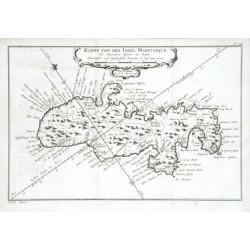 Karte von der Insel Martinique