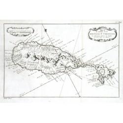Karte von der Inset St. Christoph