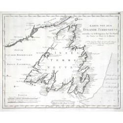 Karte von dem Eylande Terre-neuve