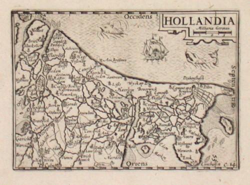 Hollandia - Antique map