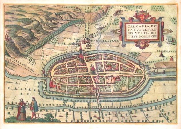 Calcaria, ducatus Clivensis, multis dotibus, nobile opp. - Antique map