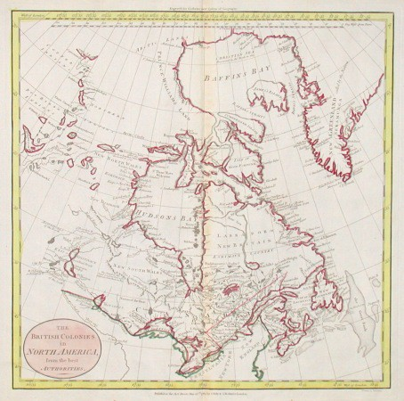 The British Colonies in North America, from the best Authorities - Stará mapa