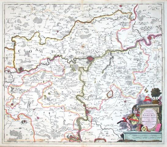 Novissima et accuratissima Namurci Comitatus tabula - Antique map