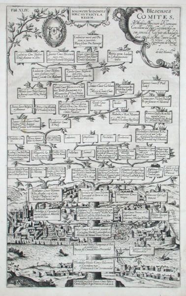 Blesens Comites - Alte Landkarte