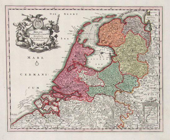 Belgii Foederato Provinciae VII - Alte Landkarte
