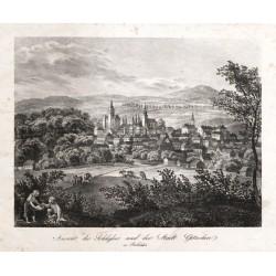 Ansicht des Schlosses und der Stadt Gitschin in Böhmen