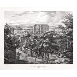 Ansicht des Schlosses Libiegitz in Böhmen