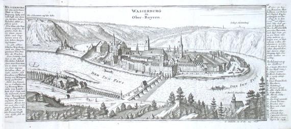 Wasserburg in Ober-Bayern - Alte Landkarte