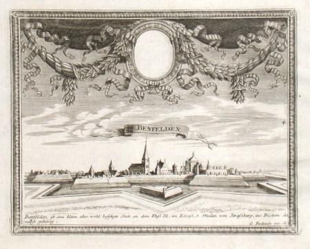 Benfelden - Alte Landkarte