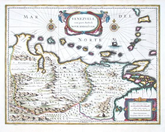 Venezuela cum parte australi Novae Andalusiae - Alte Landkarte