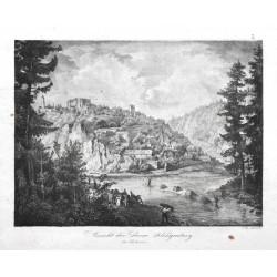 Ansicht der Ruine Klingenberg in Böhmen