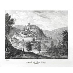 Ansicht der Ruine Littitz in Böhmen