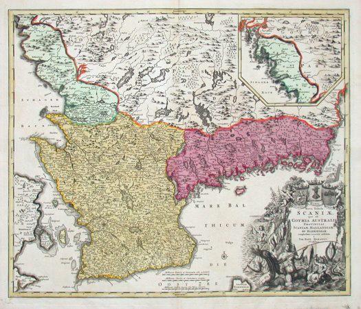 Nova Tabula Scaniae, quae est Gothia pars australis provincias Scaniam