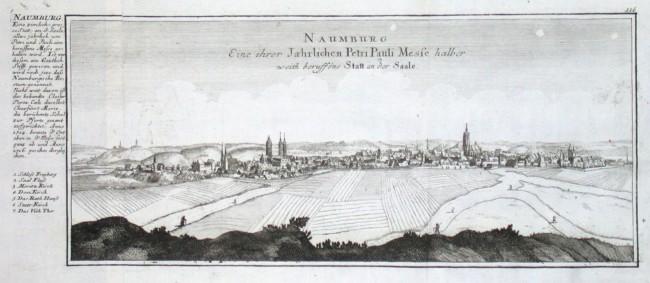 Naumburg. Eine ihrer Jaehrlichen Petri Pauli Messe halber weith beruffene Statt an der Saale - Alte Landkarte