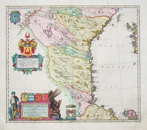 Nordlandiae et quibies Gestricia et Helsingicae regiones - Alte Landkarte