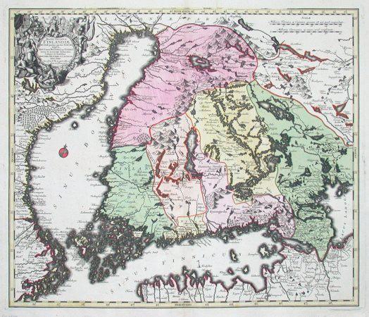 Magni ducatus Finlandiae - Alte Landkarte