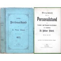 Verzeichniß über den Personalstand der  St. Pöltner Diöcese